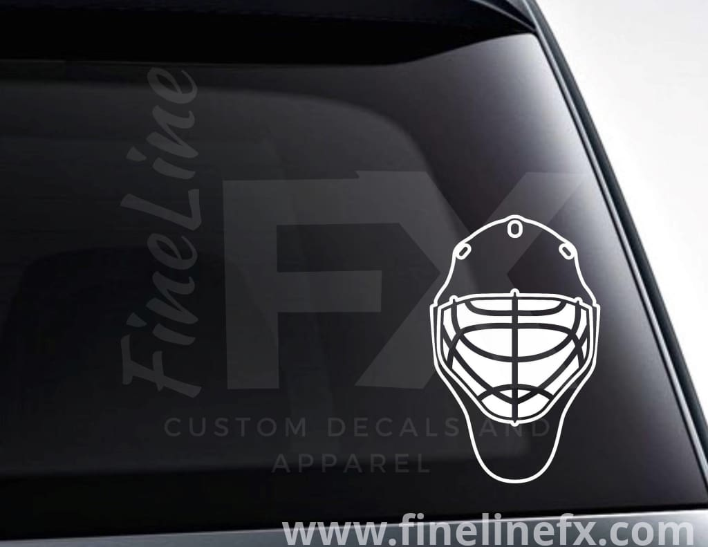 Hockey Goalie Mask Vinyl Decal Sticker