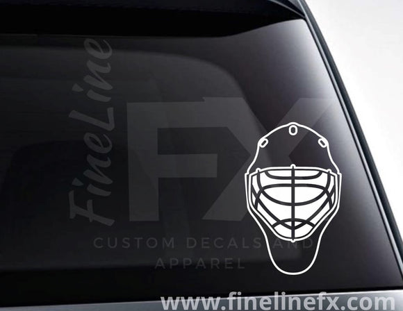 Hockey Goalie Mask Vinyl Decal Sticker - FineLineFX