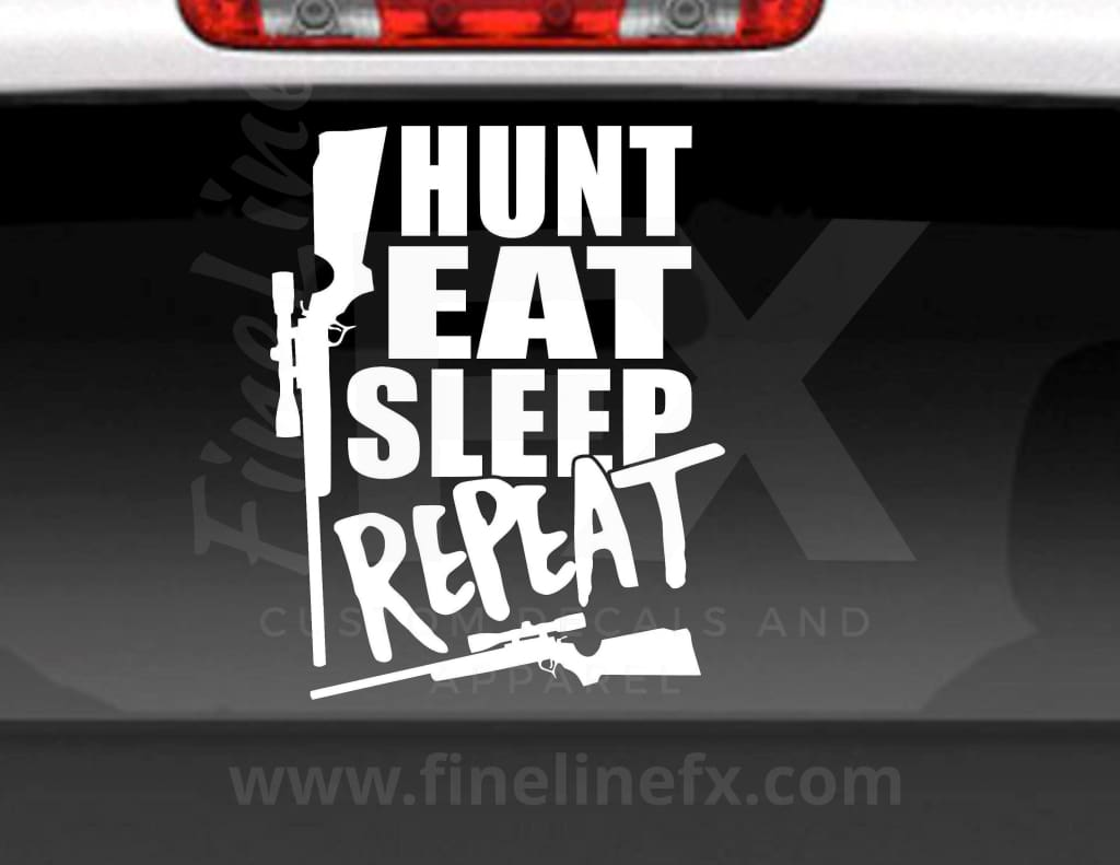 Hunt Eat Sleep Repeat Vinyl Decal Sticker