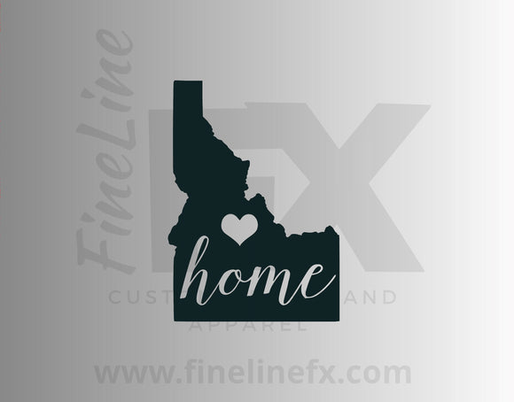 Idaho Home State Vinyl Decal Sticker - FineLineFX