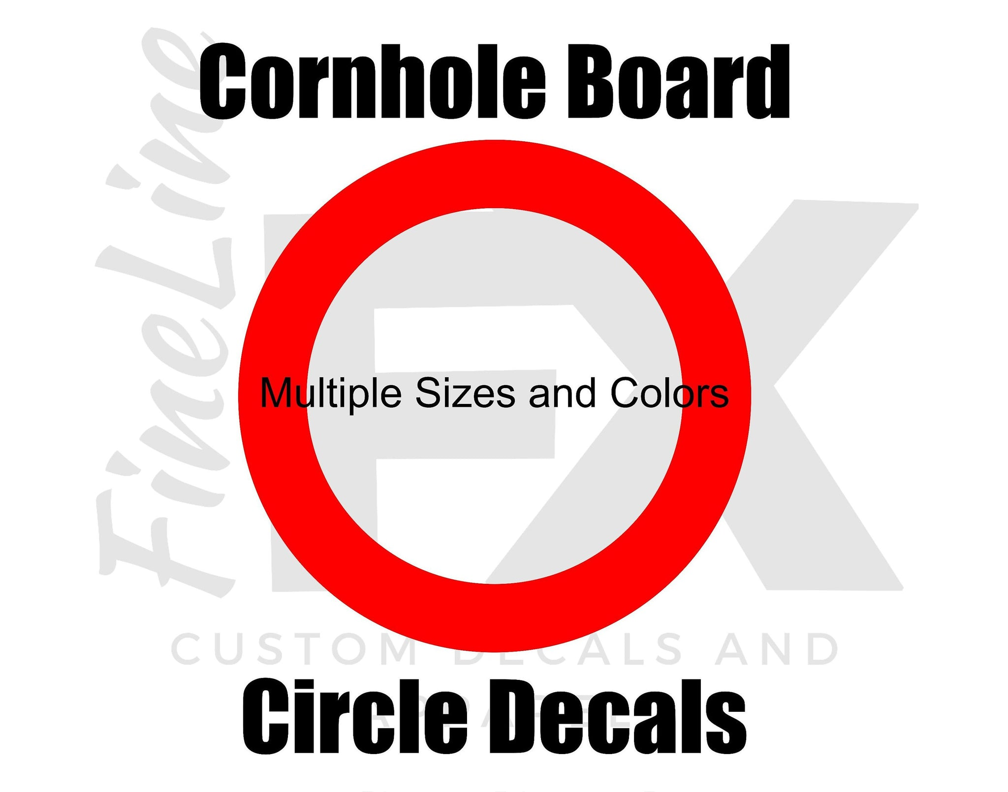 Cornhole Board Ring Circle Decals (Set Of 2) Multiple Sizes And Colors Available