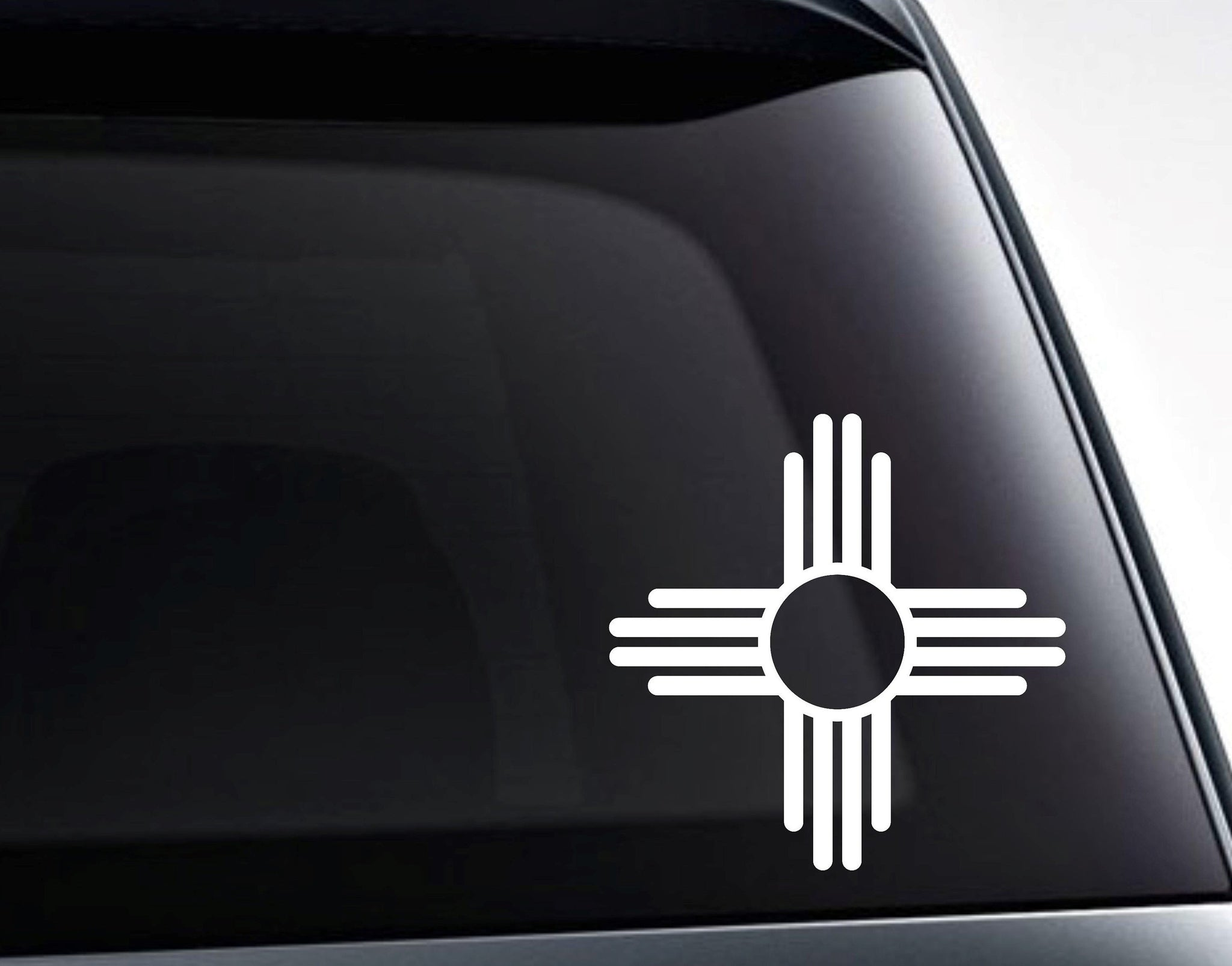 New Mexico Zia State Flag Symbol Vinyl Decal Sticker