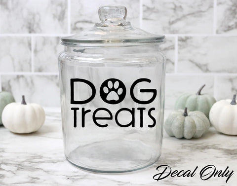 Dog Paw Dog Treat Jar Vinyl Decal Sticker