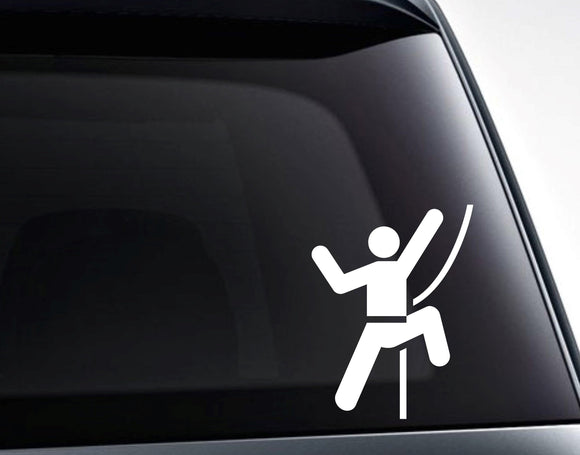 Rock Climber Vinyl Decal Sticker - FineLineFX