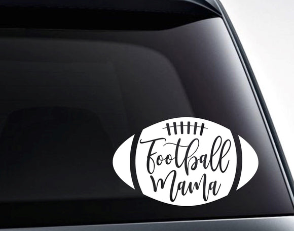 Football Mama Football Mom Vinyl Decal Sticker - FineLineFX