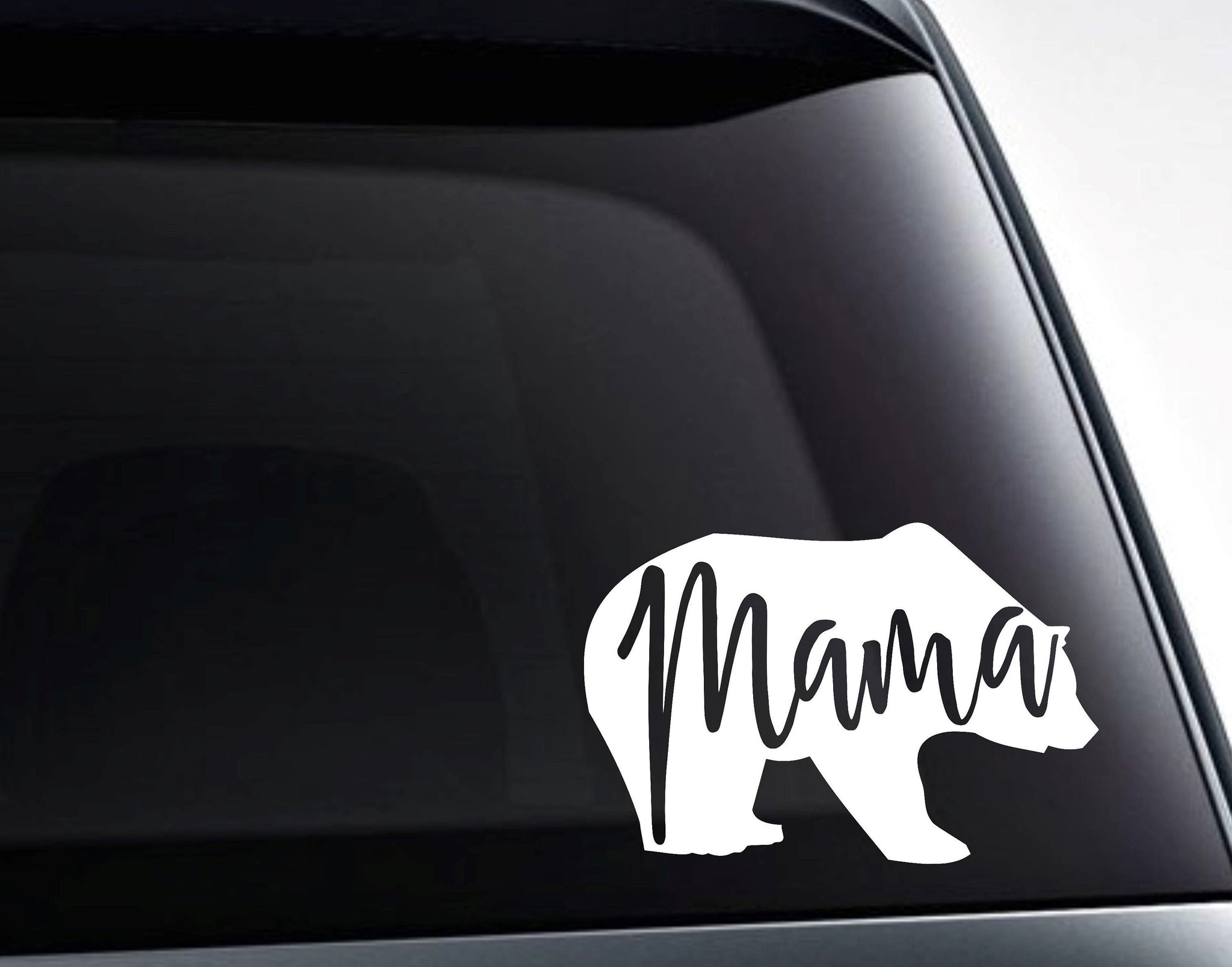 Mama Bear Cute Vinyl Decal Sticker For Cars, Tumblers And More