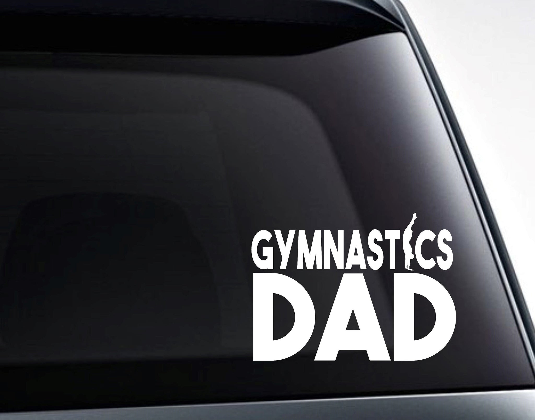 Gymnastics Dad Vinyl Decal Sticker