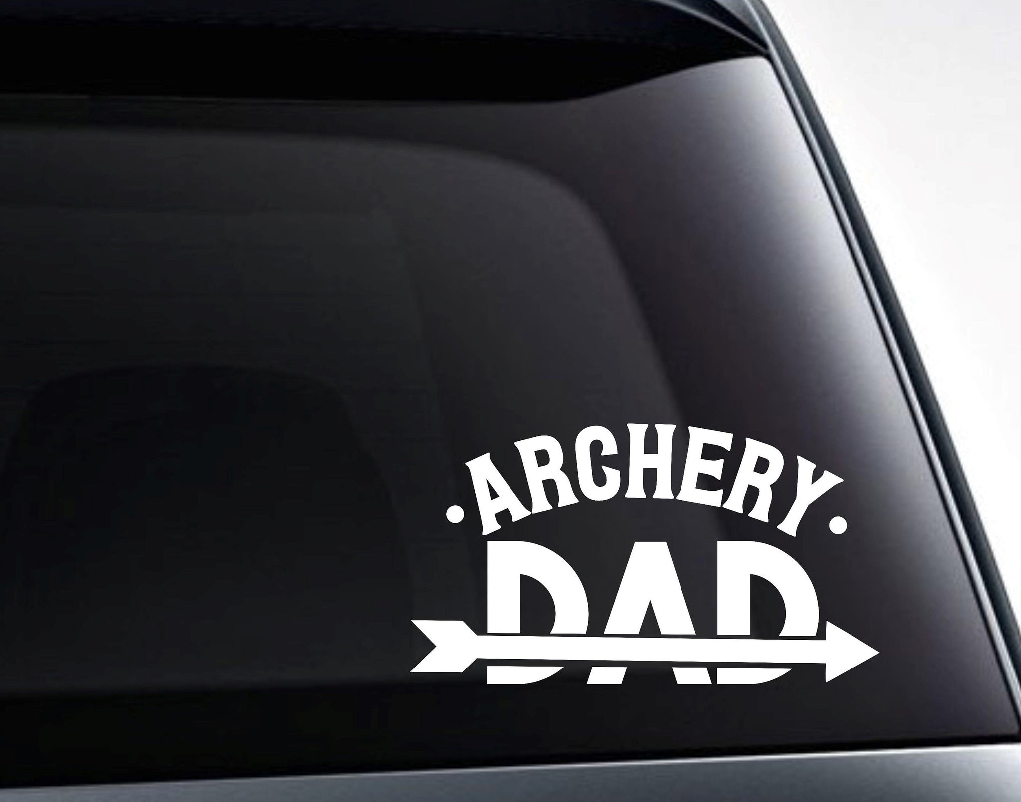 Archery Dad Arrow Vinyl Decal Sticker