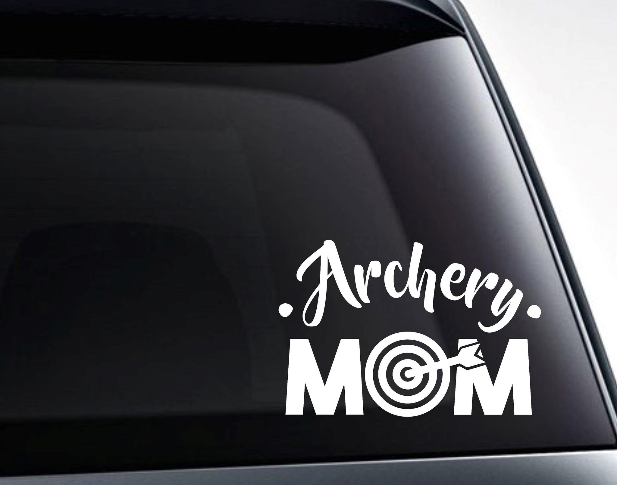 Archery Mom Target Vinyl Decal Sticker