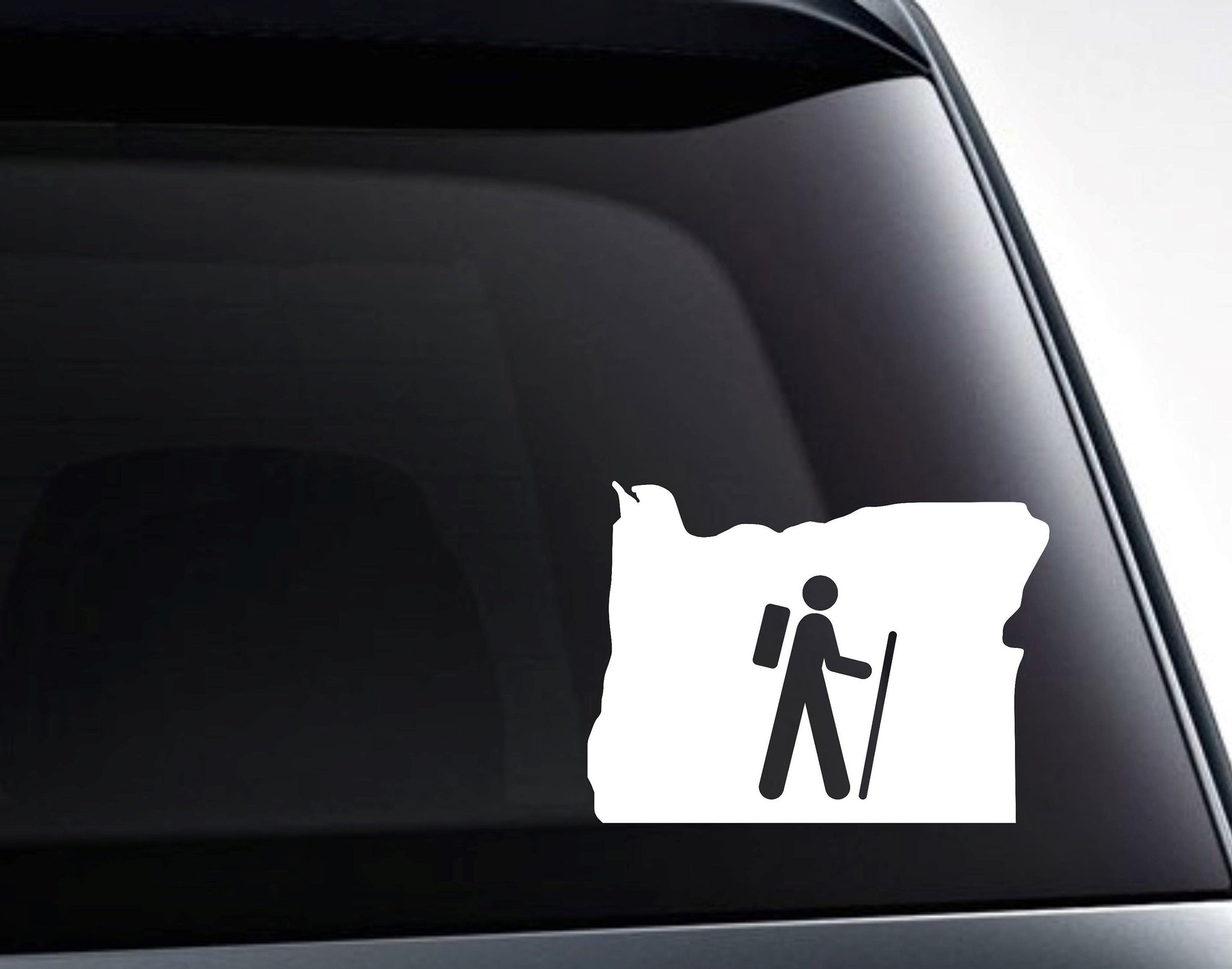 Oregon Hiking Oregon State Hiker Vinyl Decal Sticker