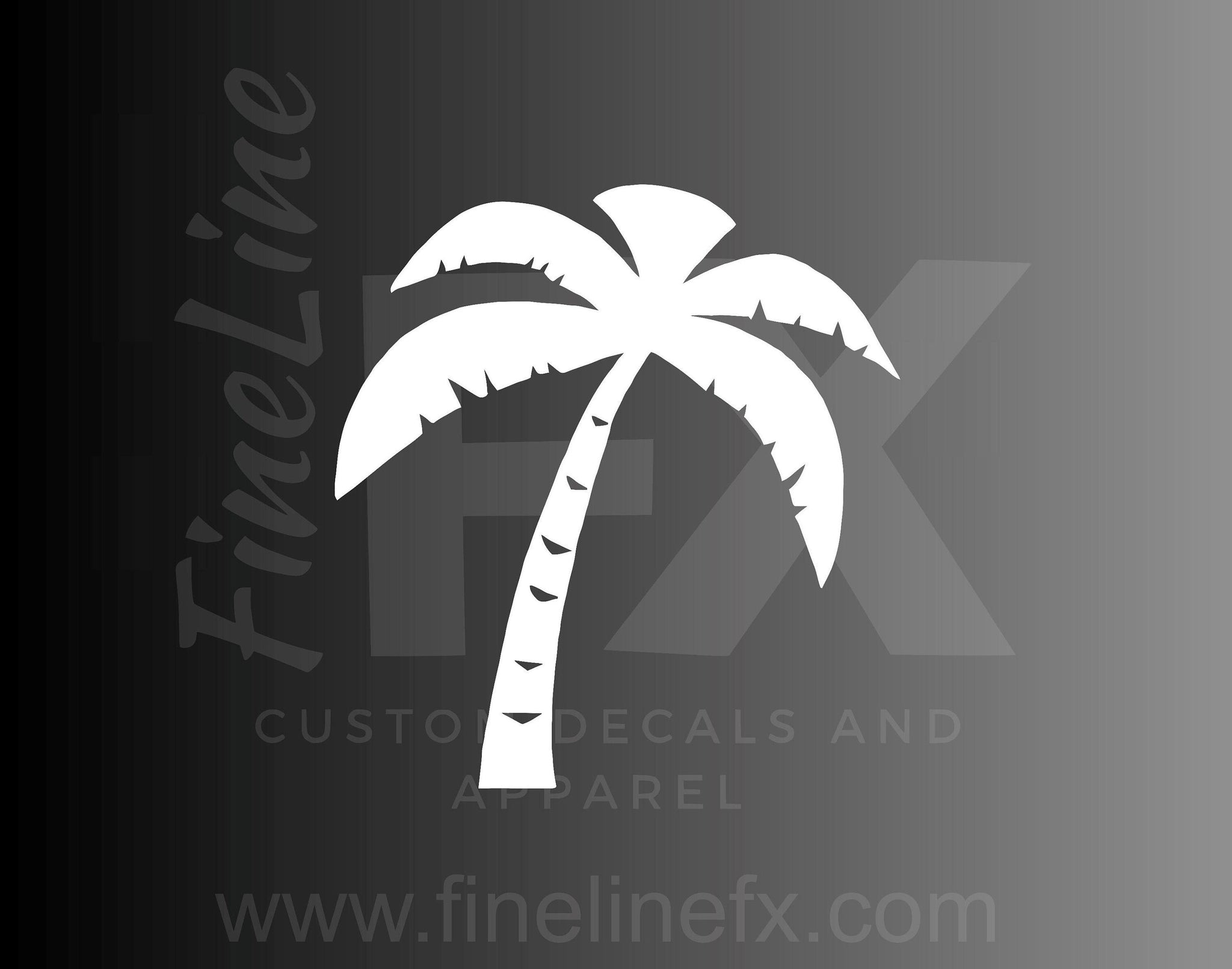 Palm Tree Silhouette Vinyl Decal Sticker