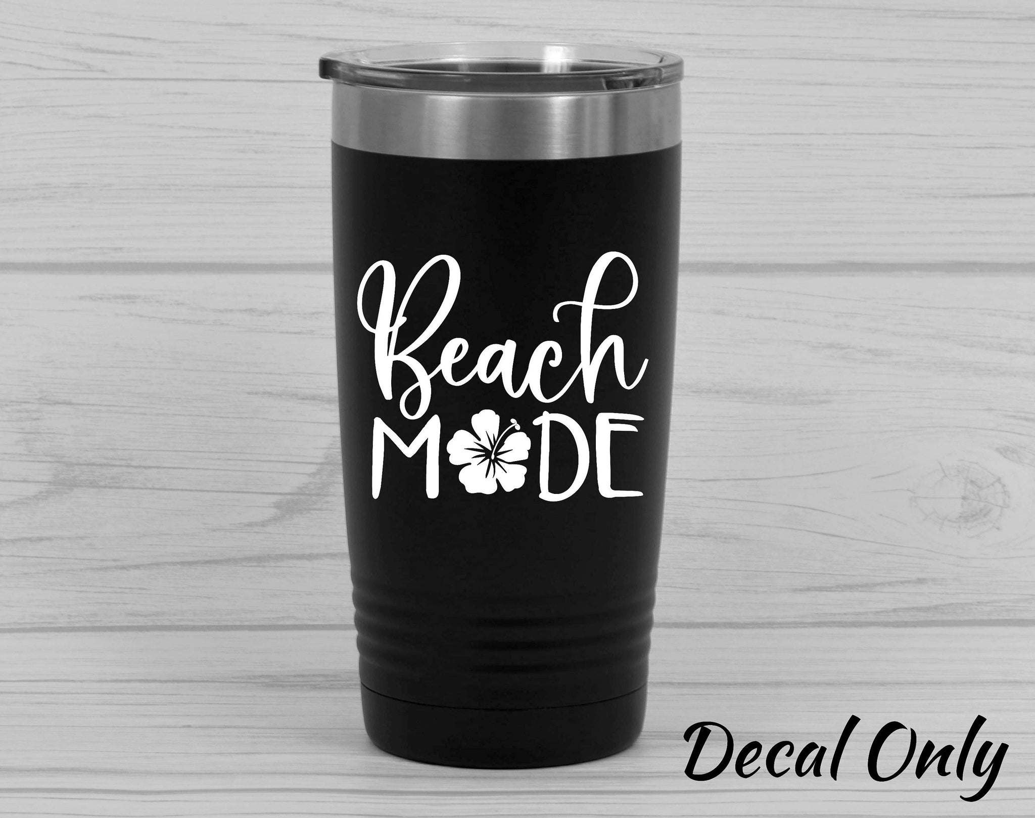 Beach Mode Tropical Flower Vinyl Decal Sticker