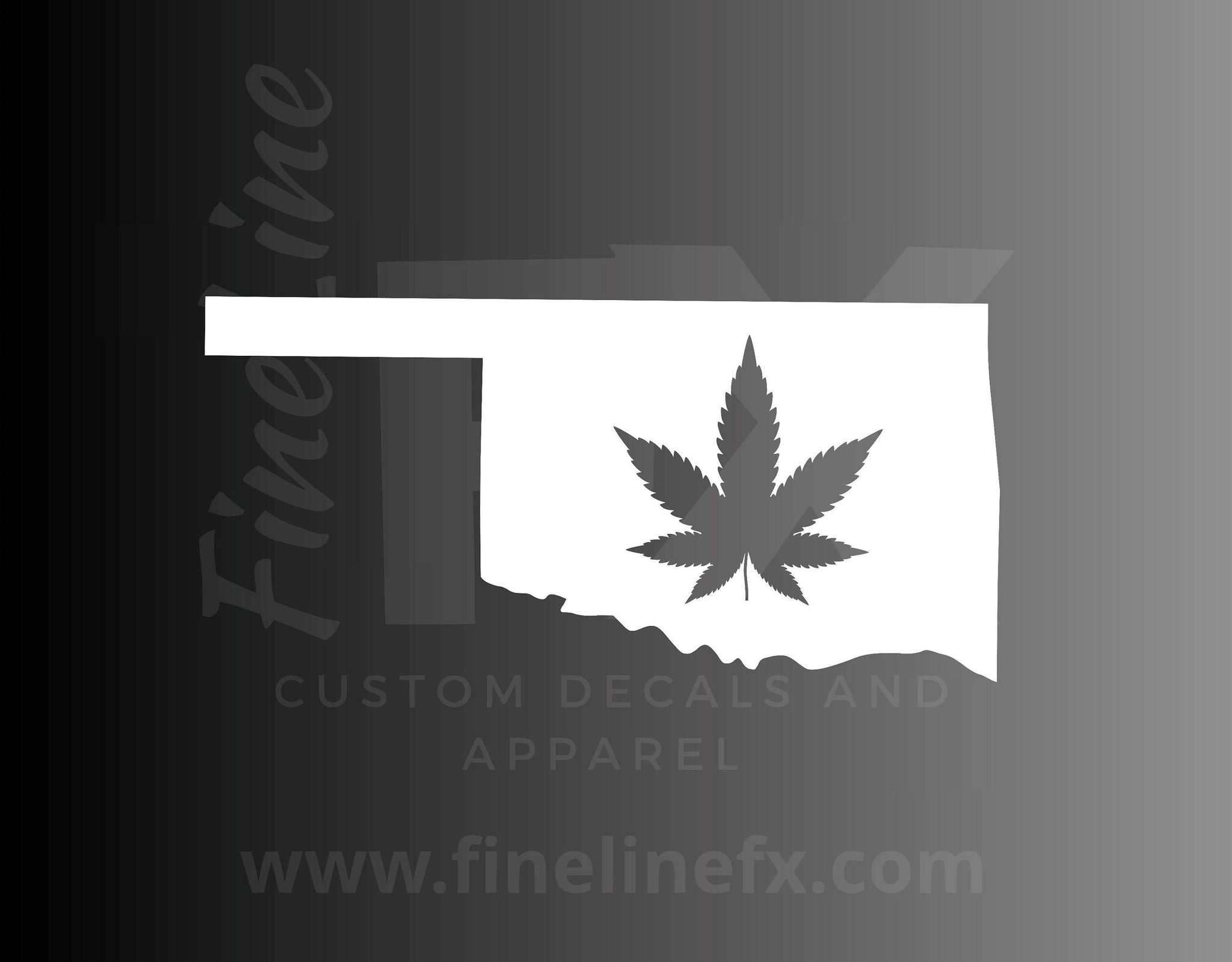 Oklahoma Marijuana Pot Leaf State Vinyl Decal Sticker
