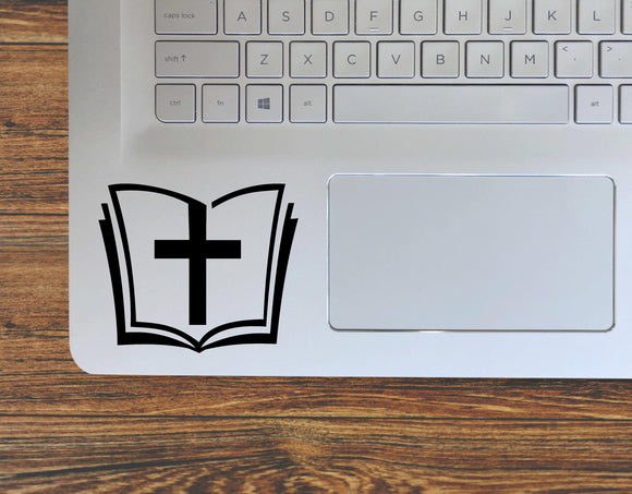 Bible with Cross Religious Christian Decal / Vinyl Decal Sticker - FineLineFX