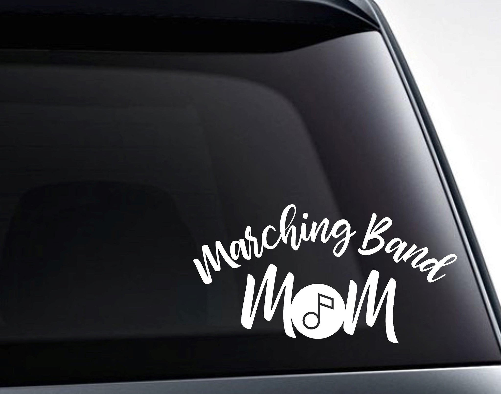 Marching Band Mom Musical Note Vinyl Decal Sticker