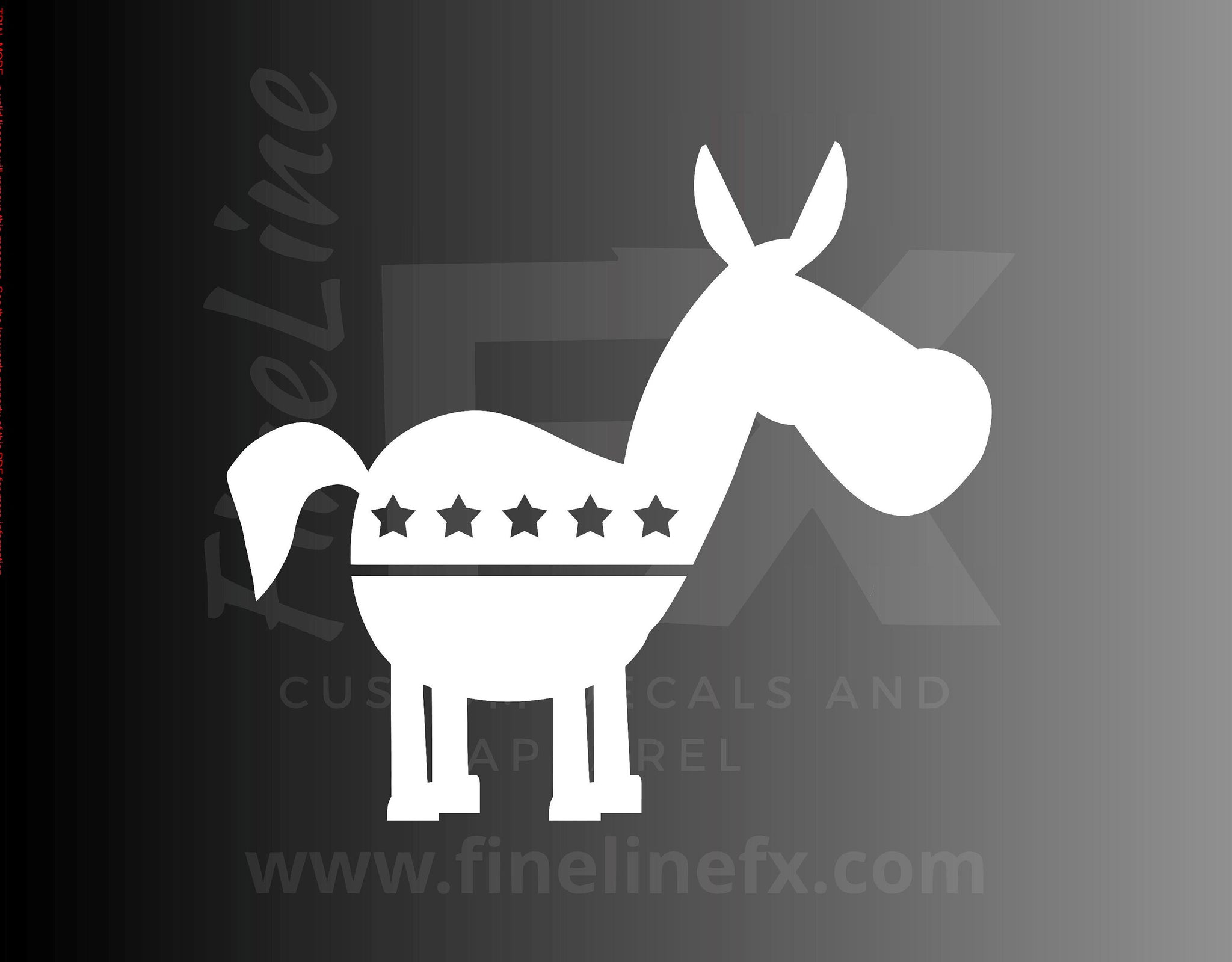 Democrat Donkey Political Logo Vinyl Decal Sticker