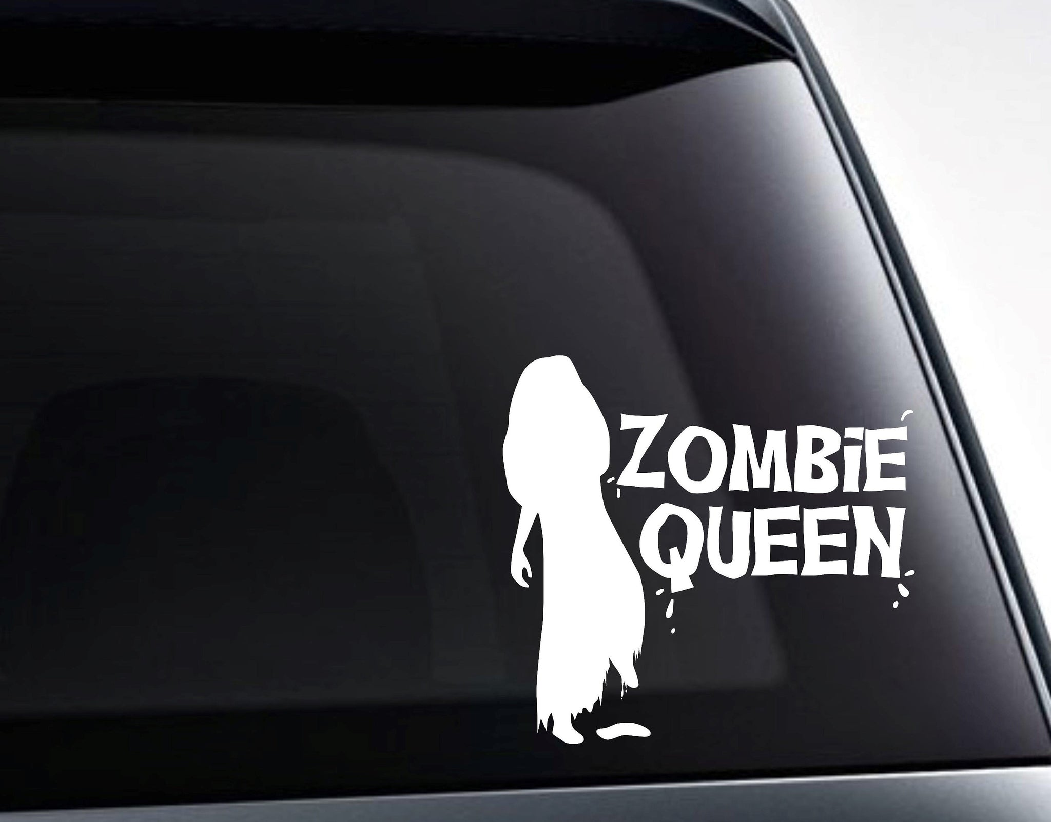 Zombie Queen Vinyl Decal Sticker
