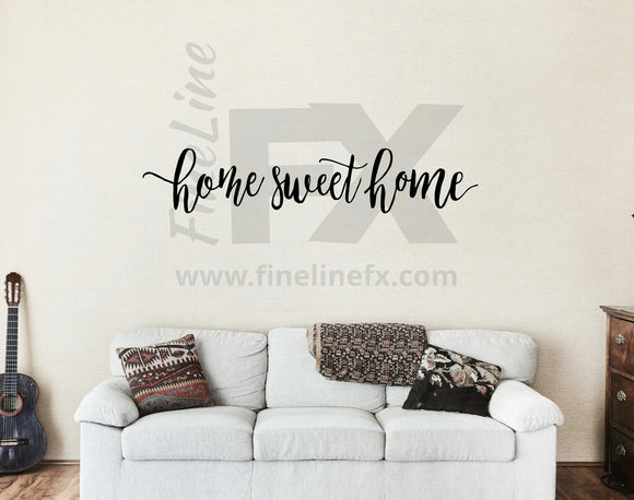 Home Sweet Home Wall Decal, Vinyl Wall Decal, Living Room, Family Room, Foyer Wall Decor - FineLineFX