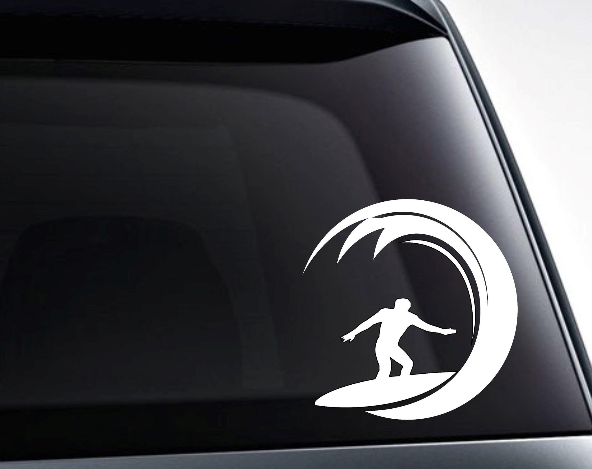 Surfer Surfing Ocean Wave Vinyl Decal Sticker