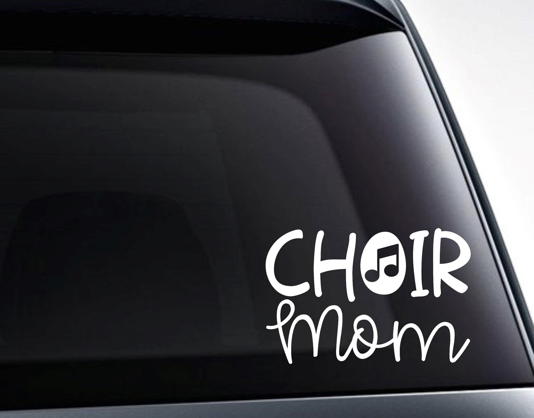 Choir Mom Musical Note Vinyl Decal Sticker