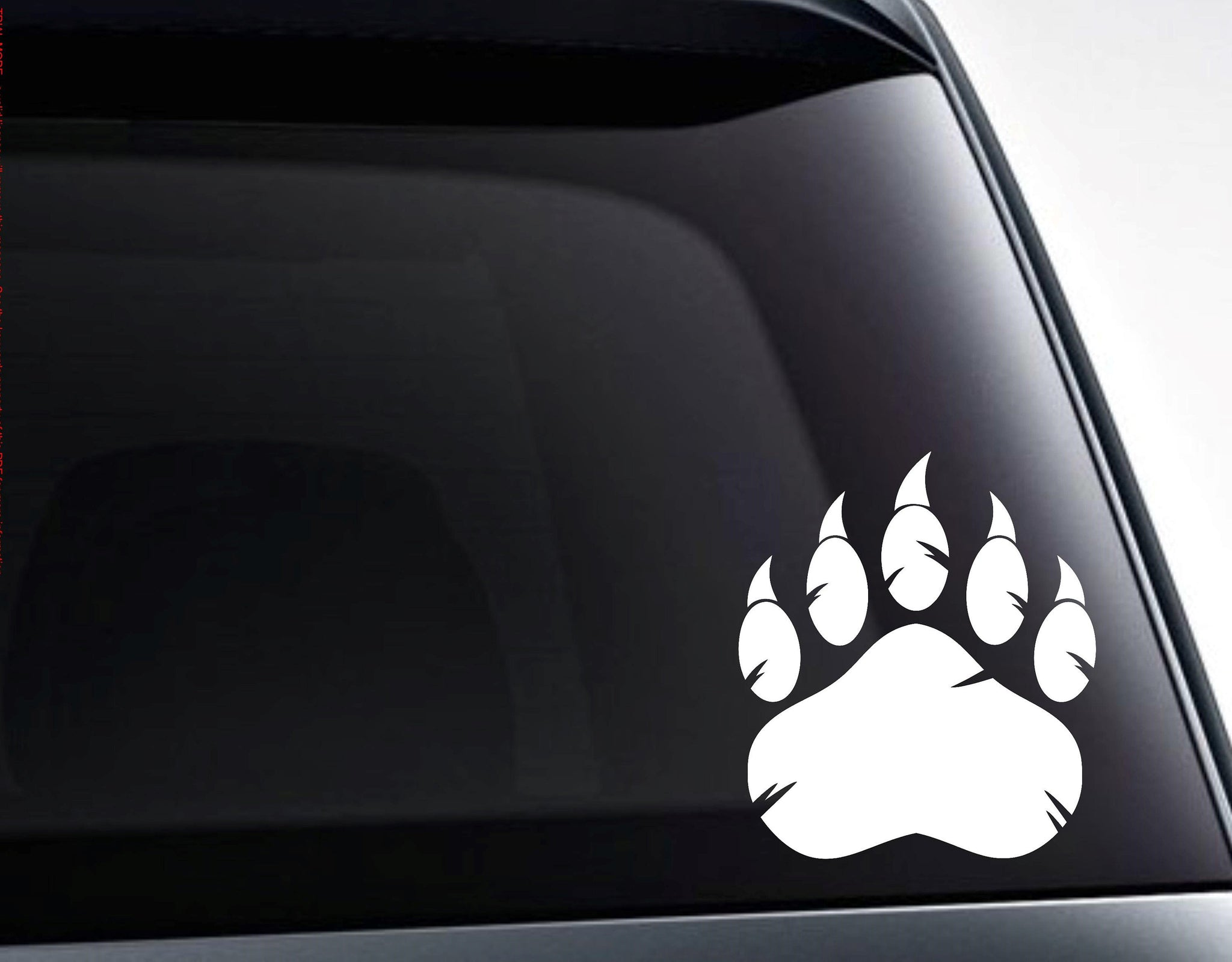 Grizzly Bear Paw Claws Vinyl Decal Sticker