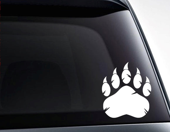 Grizzly Bear Paw Claws Vinyl Decal Sticker - FineLineFX