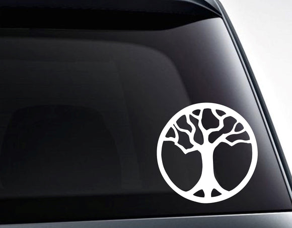 Tree of Life Meditation Sacred Vinyl Decal Sticker / Car, Laptop, Tumbler Decals and More - FineLineFX
