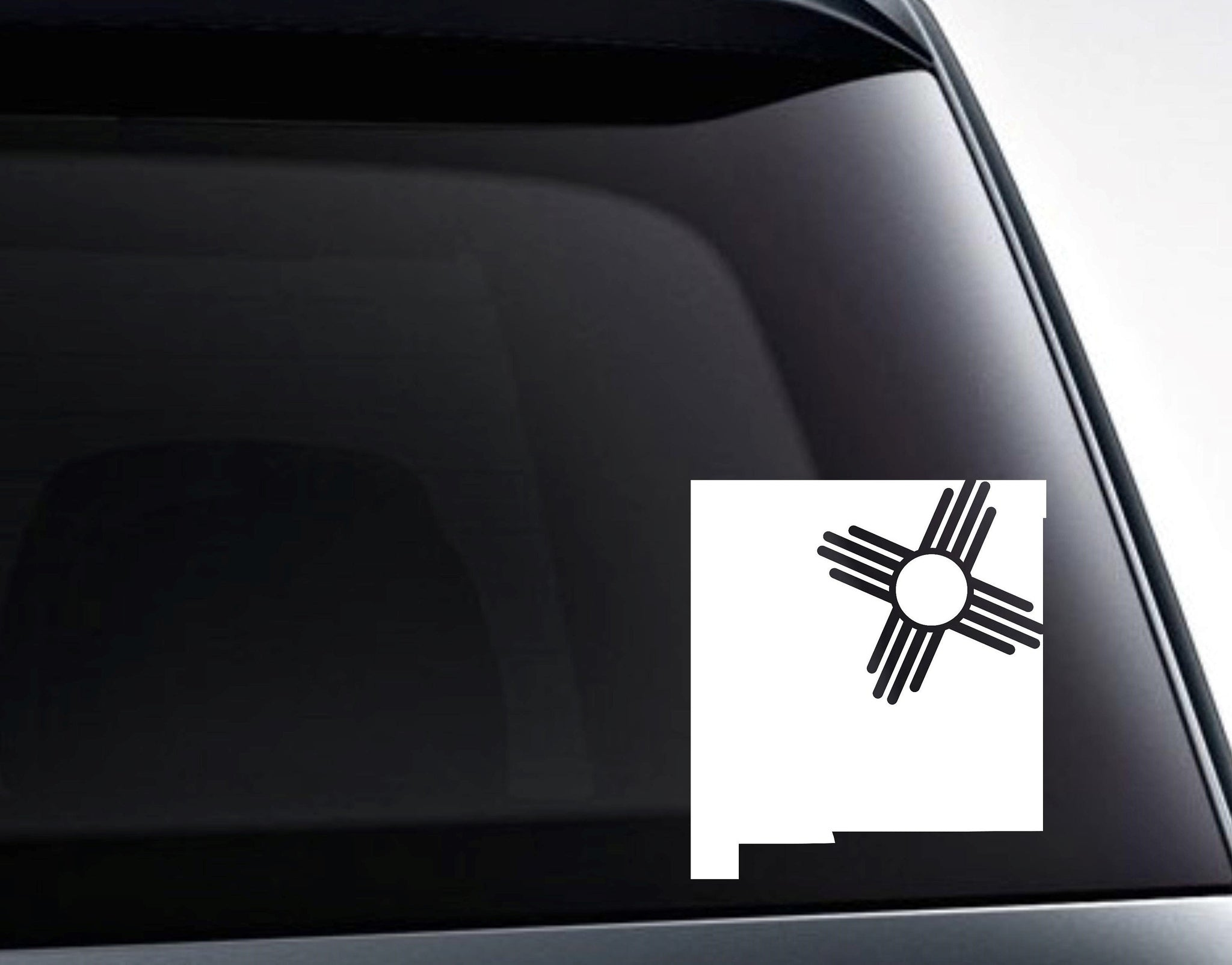 New Mexico Zia State Flag Art Vinyl Decal Sticker