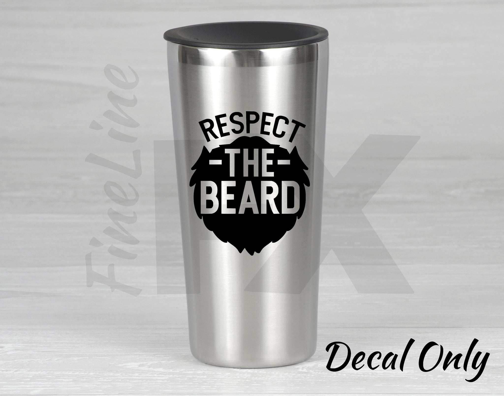 Respect the Beard Vinyl Decal Sticker