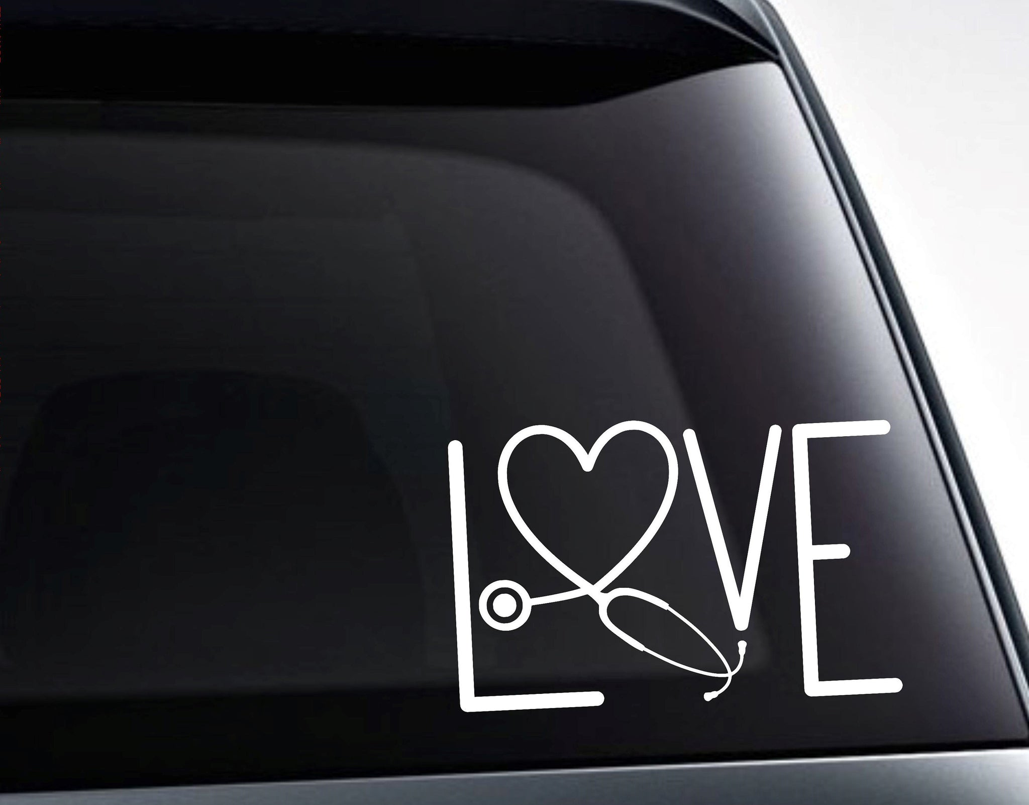 Love Nurse Stethoscope Vinyl Decal Sticker