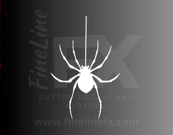 Hanging Spider Halloween Decor Vinyl Decal Sticker - FineLineFX