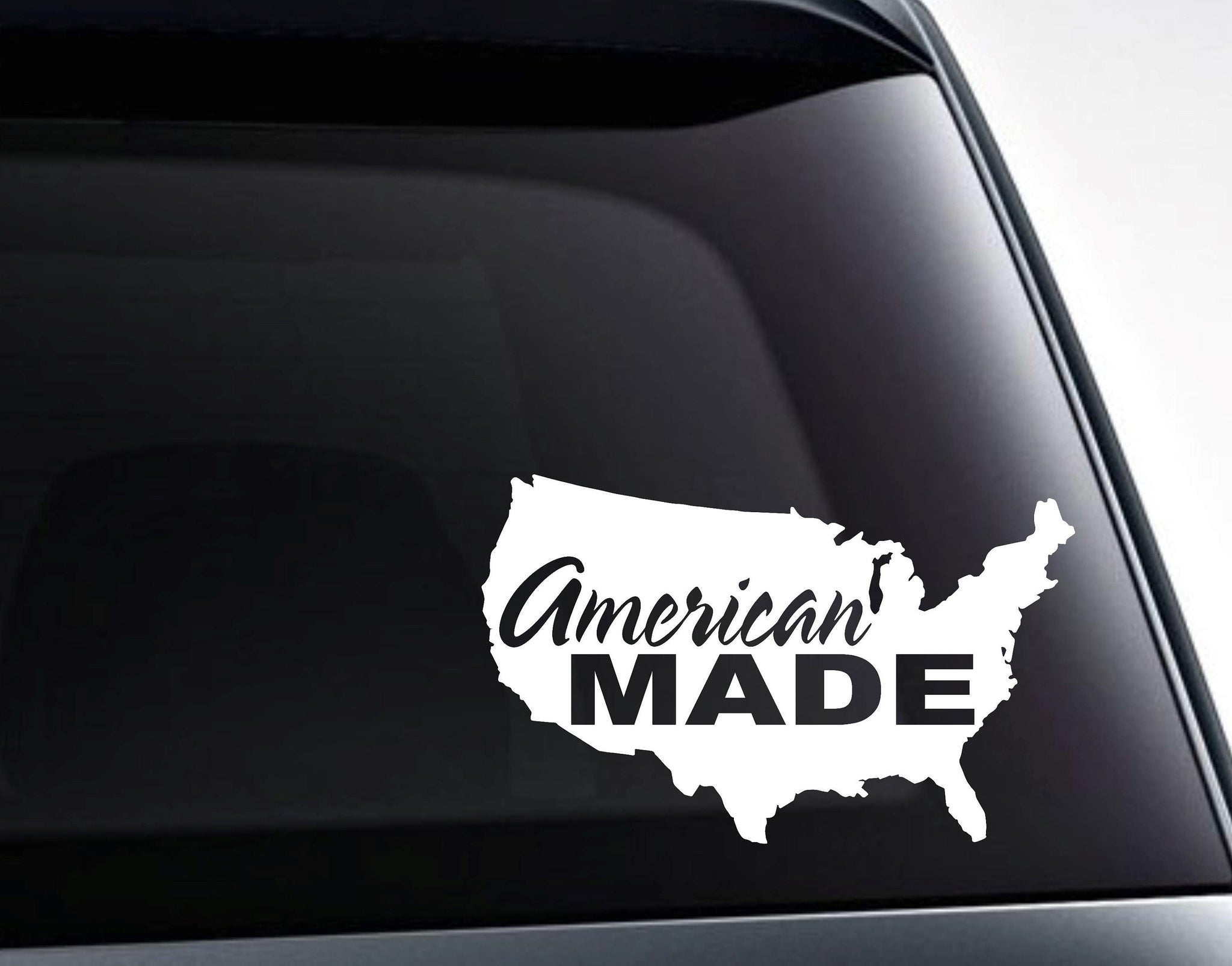 USA Map American Made Vinyl Decal Sticker