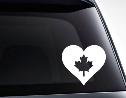 Canada Maple Leaf Heart Love Canada Vinyl Decal Sticker