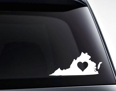 Virginia Heart Love Virginia Vinyl Decal Sticker