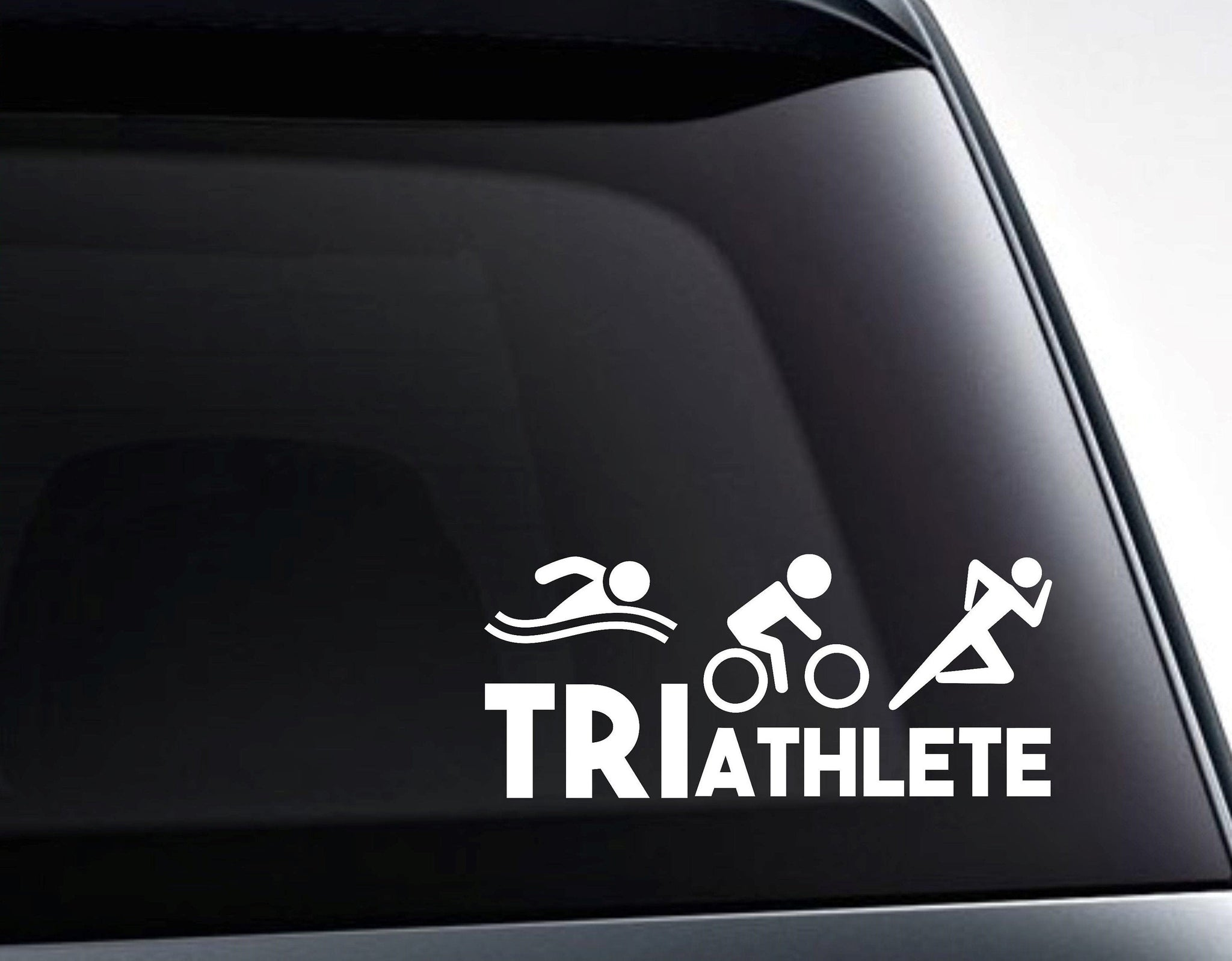 Triathlete Swim Bike Run Triathlon Vinyl Decal Sticker