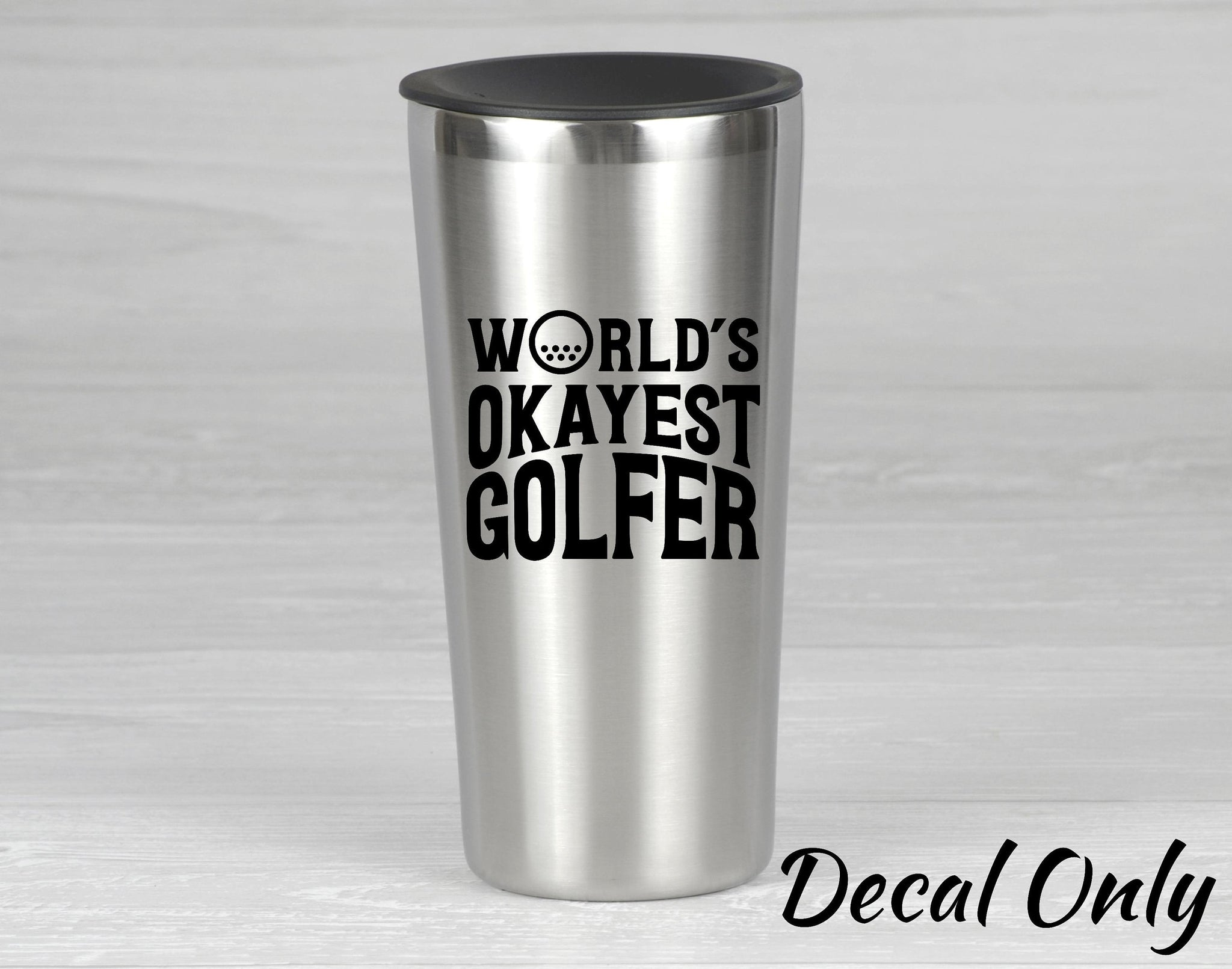 World's Okayest Golfer Vinyl Decal Sticker