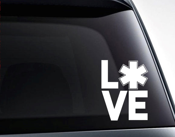Love Paramedic First Responder EMT Vinyl Decal Sticker - FineLineFX
