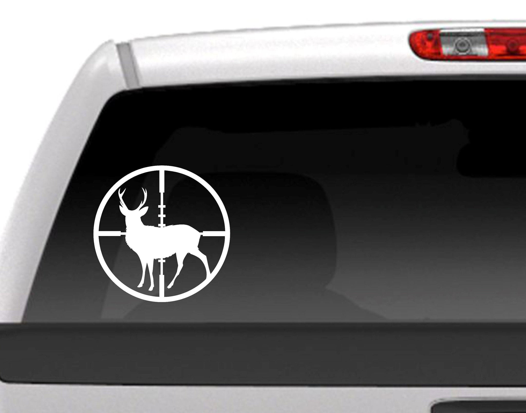 DeerTarget Buck Hunting Rifle Crosshairs Vinyl Decal Sticker