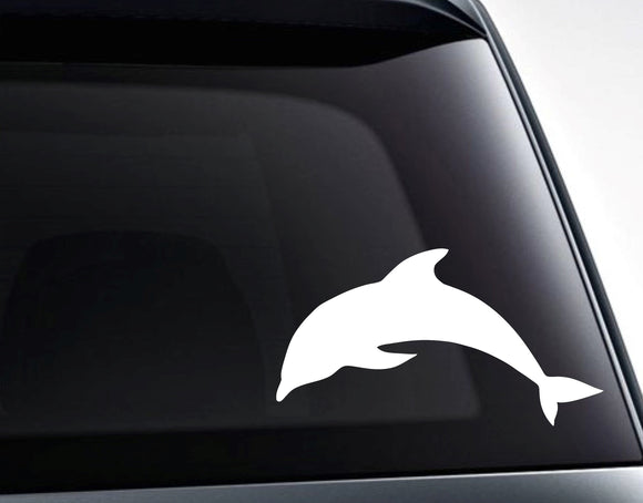 Dolphin Silhouette Vinyl Decal Sticker - FineLineFX