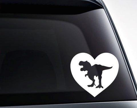 Dinosaur Heart Love Dinosaurs Vinyl Decal Sticker