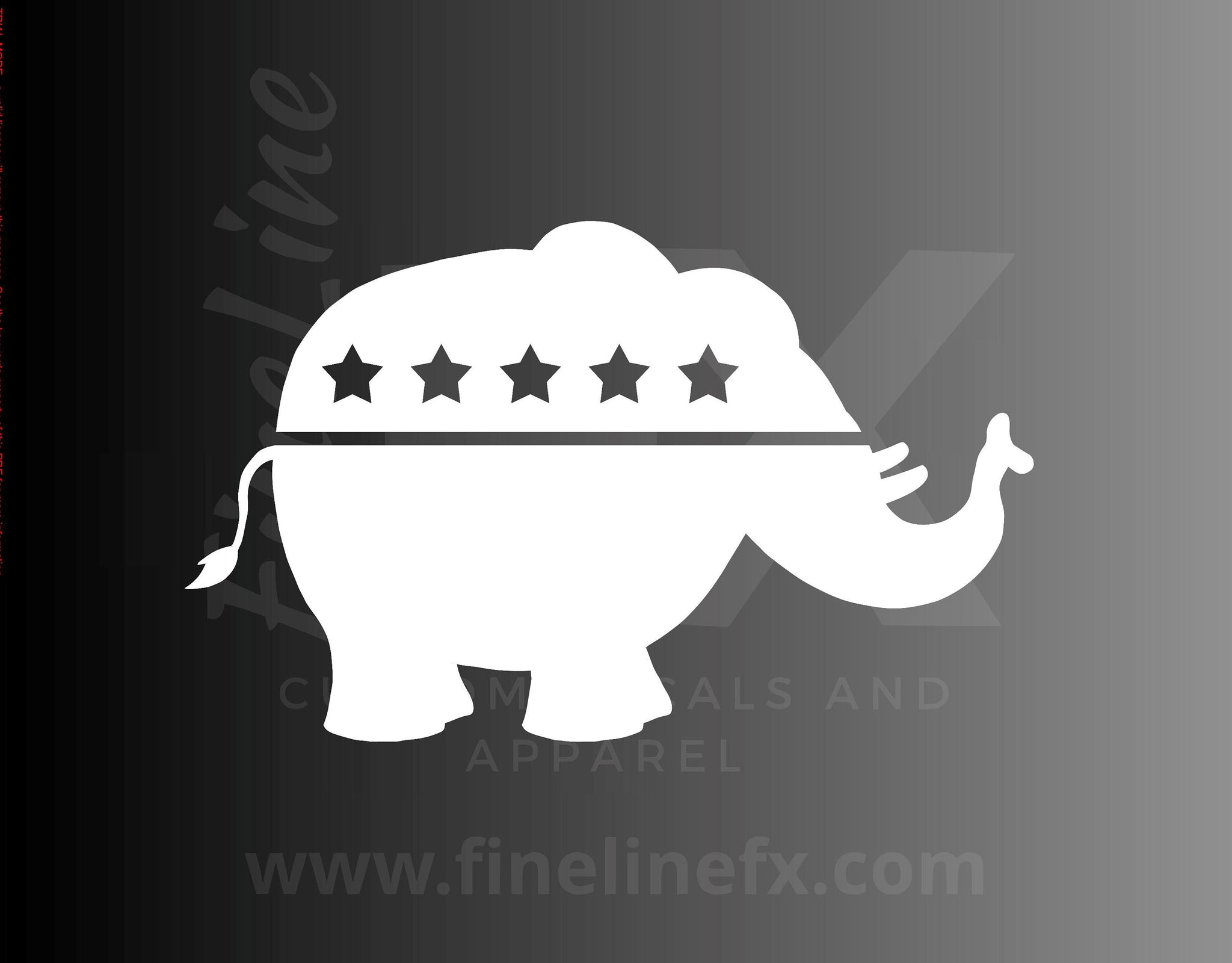 Republican Elephant Political Logo Vinyl Decal Sticker