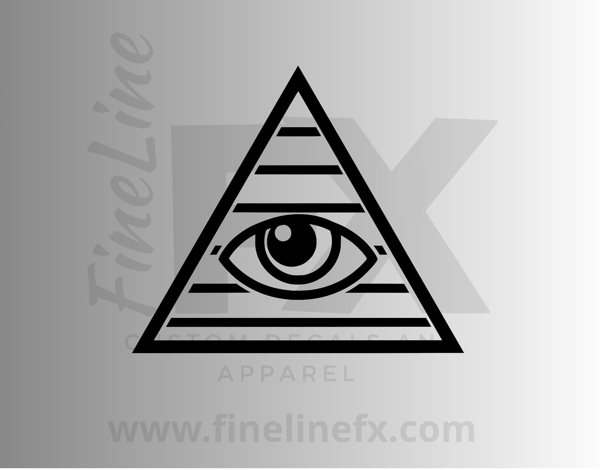 All Seeing Eye Vinyl Decal Sticker