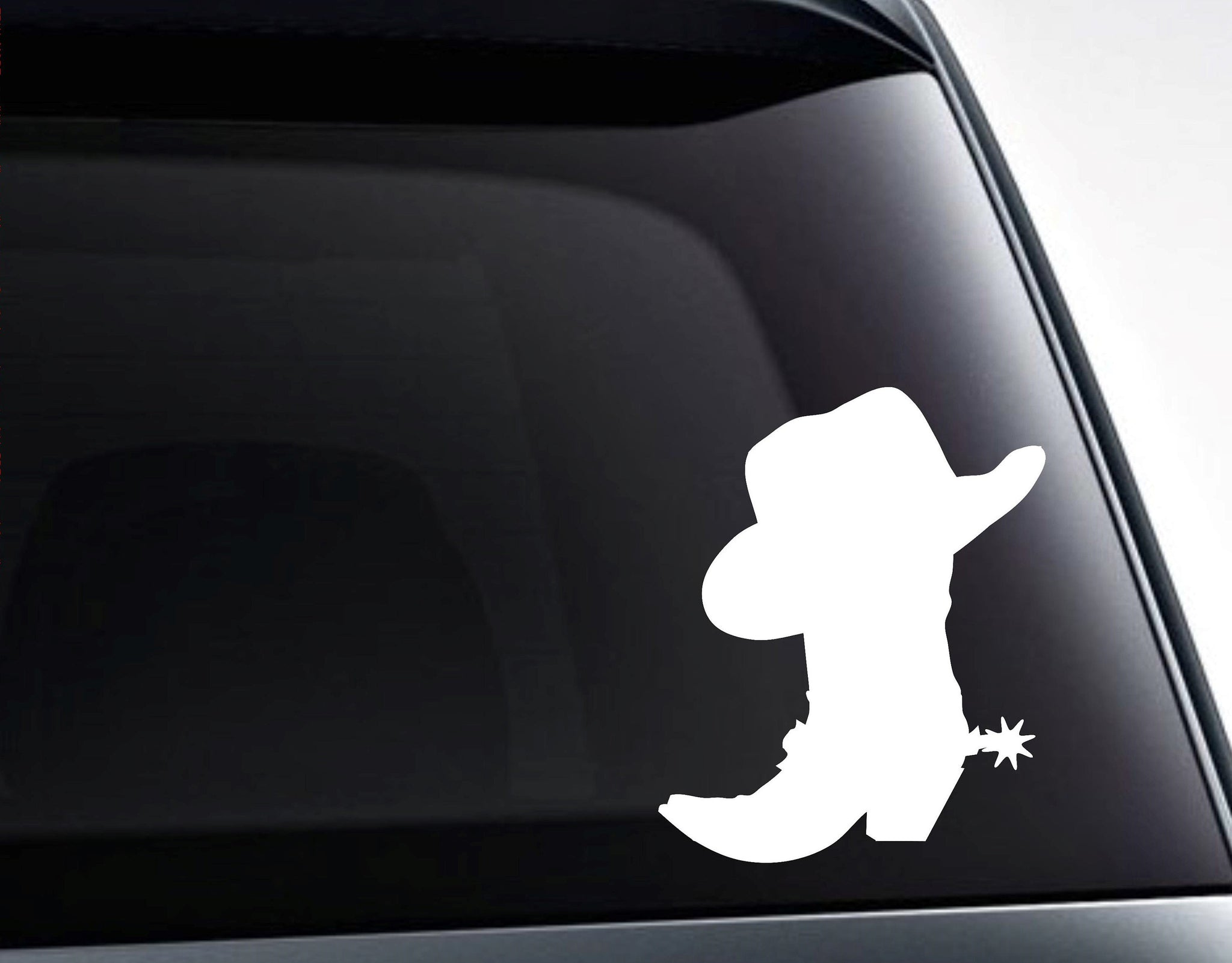 Cowboy Boot Spur Cowboy Hat Rodeo Vinyl Decal Sticker