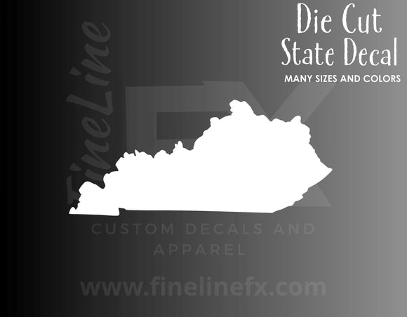 Kentucky State Shape Vinyl Decal Sticker - FineLineFX