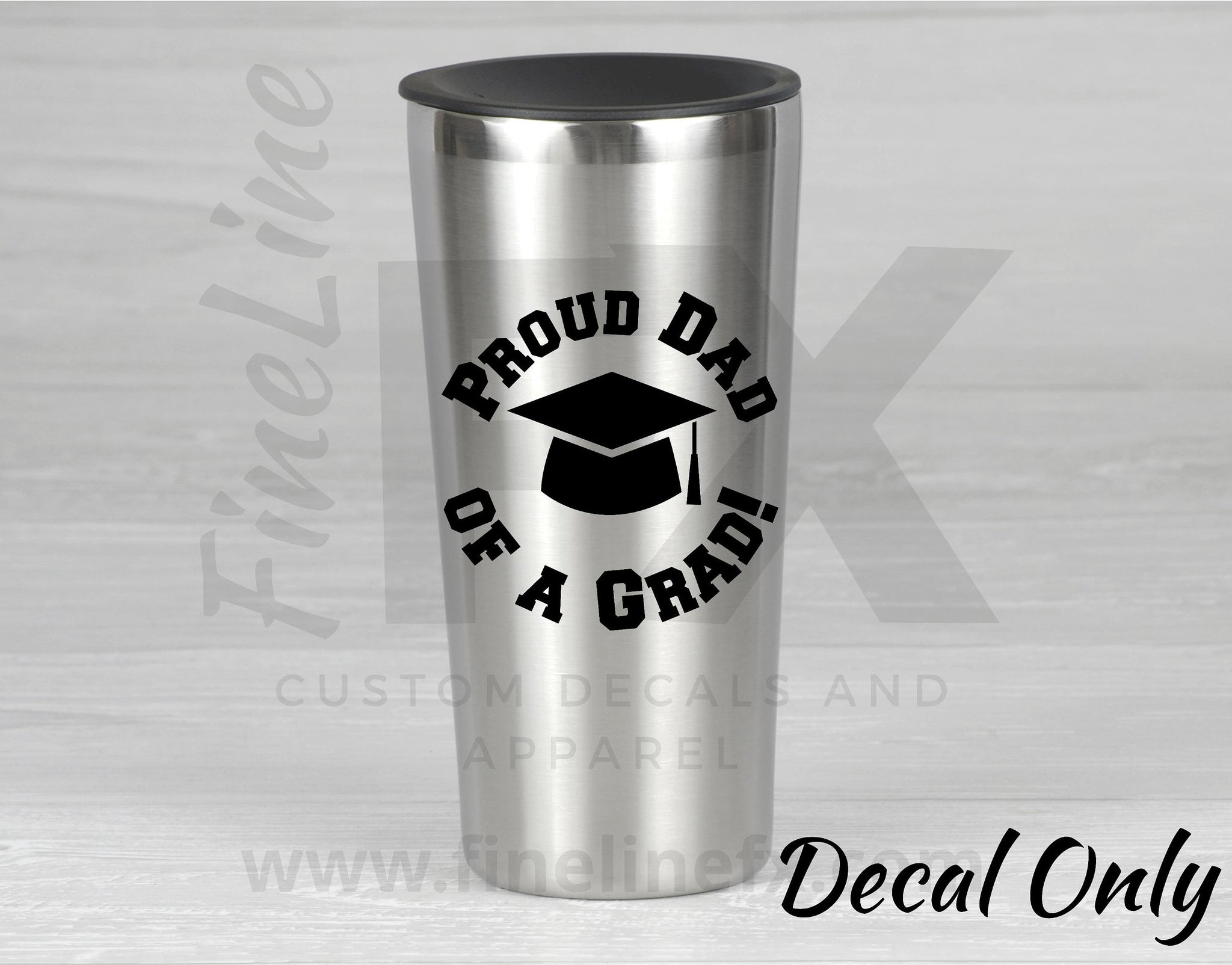 Proud Dad Of A Grad Graduation Cap Vinyl Decal Sticker