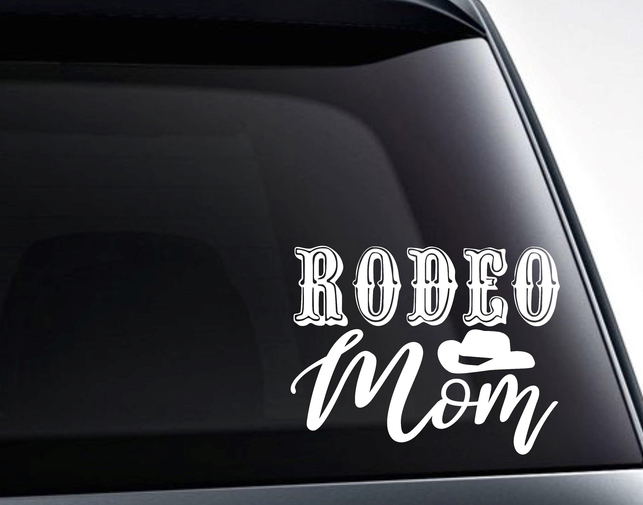Rodeo Mom Cowboy Hat Country Western Vinyl Decal Sticker