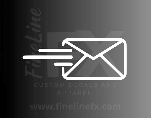 Outgoing Mail Sent Mail Symbol Mail Bin Label Vinyl Decal Sticker - FineLineFX