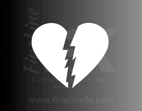 Broken Heart Vinyl Decal Sticker