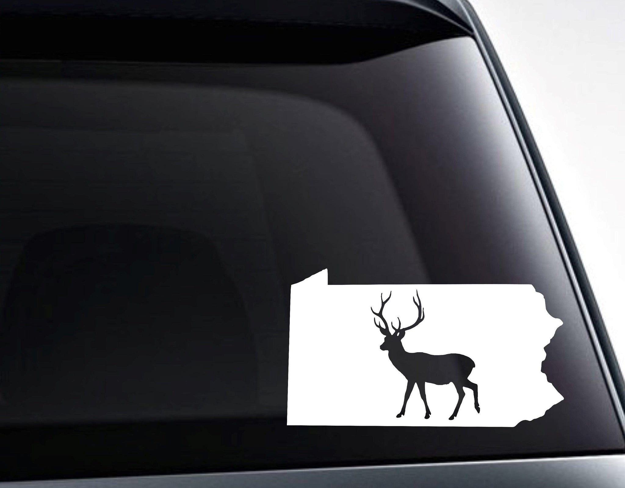 DEER TRACKS~ VINYL GRAPHIC CAR DECAL STICKER ~ CHOICE OF 6 COLORS