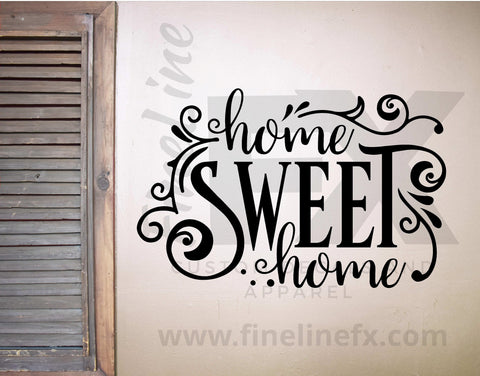 Home Sweet Home Die Cut Vinyl Wall Decal